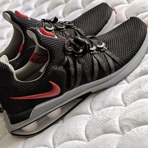 Black And Red Nike Running Shoes